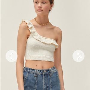 Urban Outfitters Molly one shoulder crop top